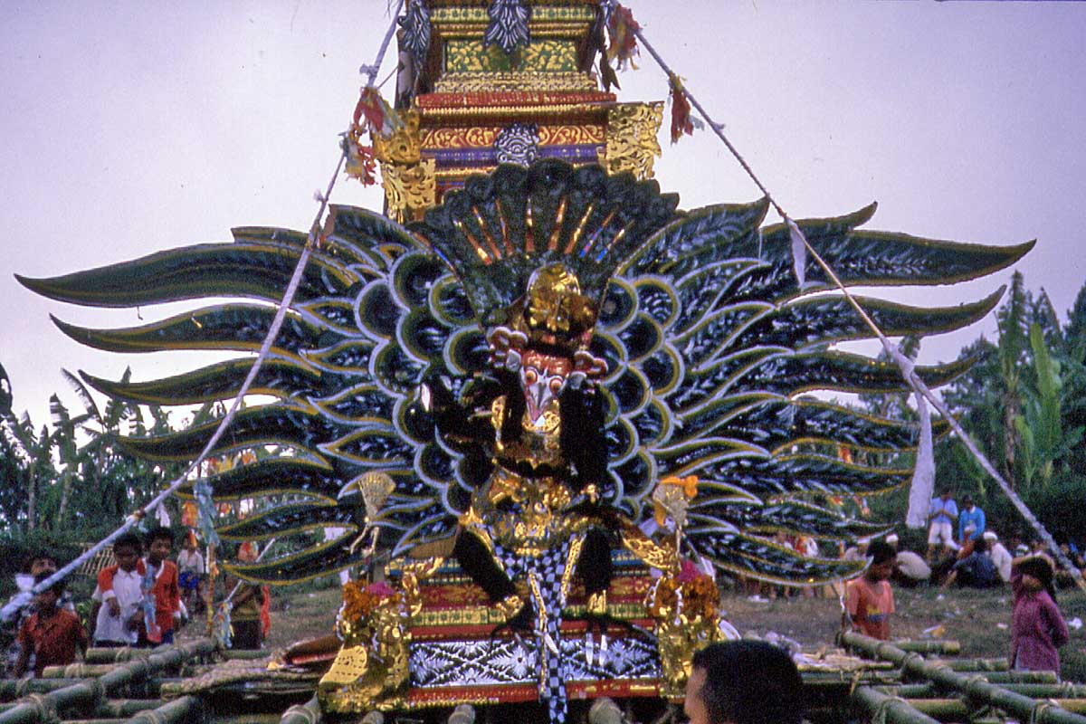 Garuda at cremation