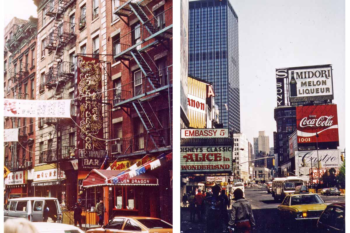Broadway 1981 and China Town New York