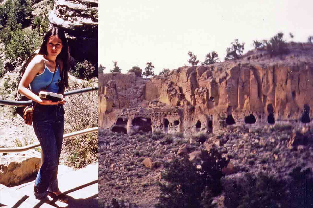 New Mexico Caves of Indian Mogollon in Gila Cliff Dwellings