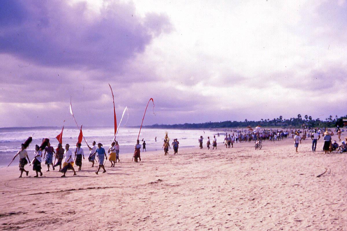 Bali beach procession