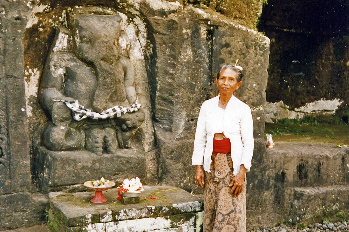 Priest at elephant temple on bali