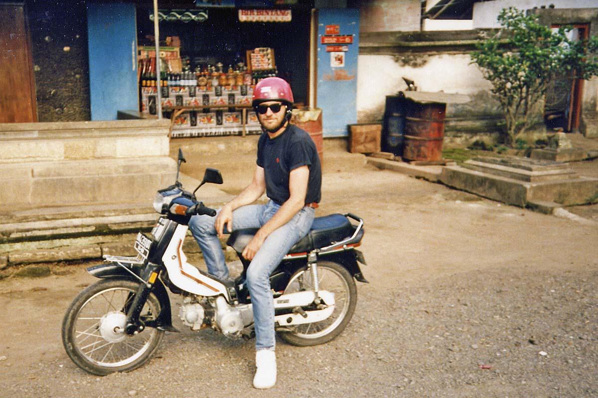 Motorcycle on Bali