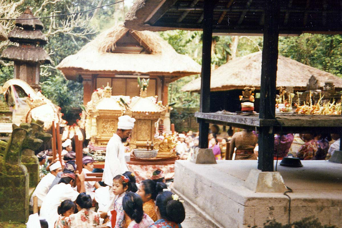 Ceremony in balinese temple