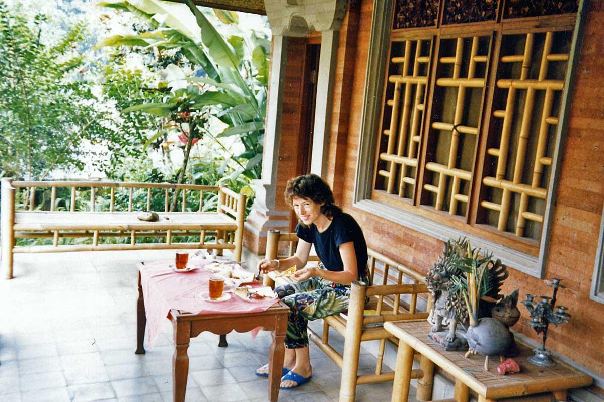 Ubud, Bali. In a new losmen in 1988