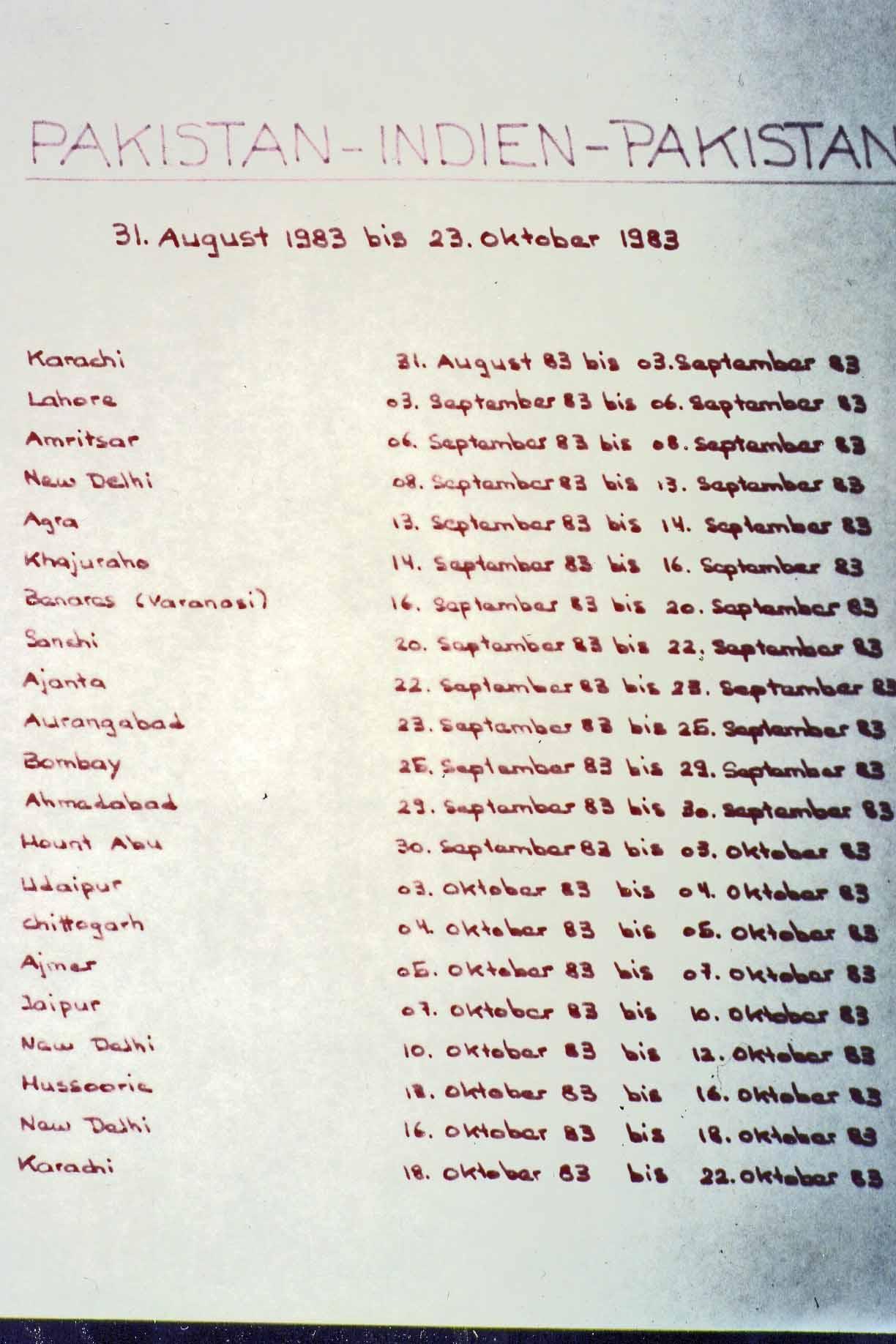 India Tour 1983