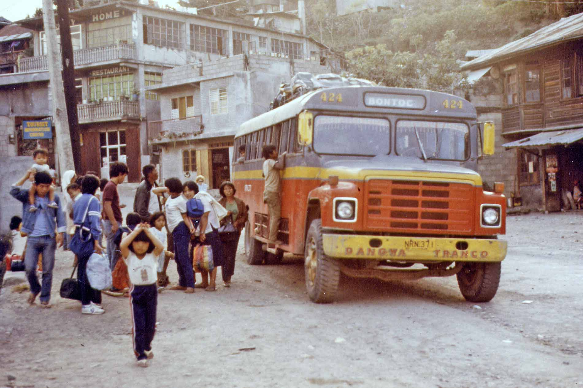 Bontoc - arrival with bus