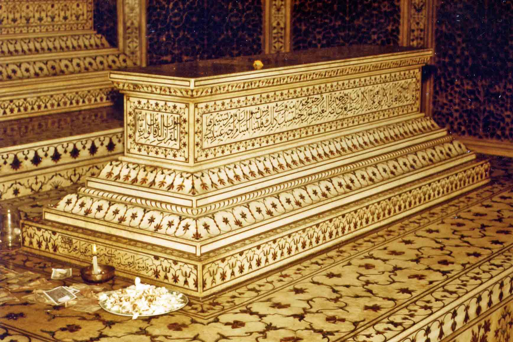 Coffin in the Taj Mahal