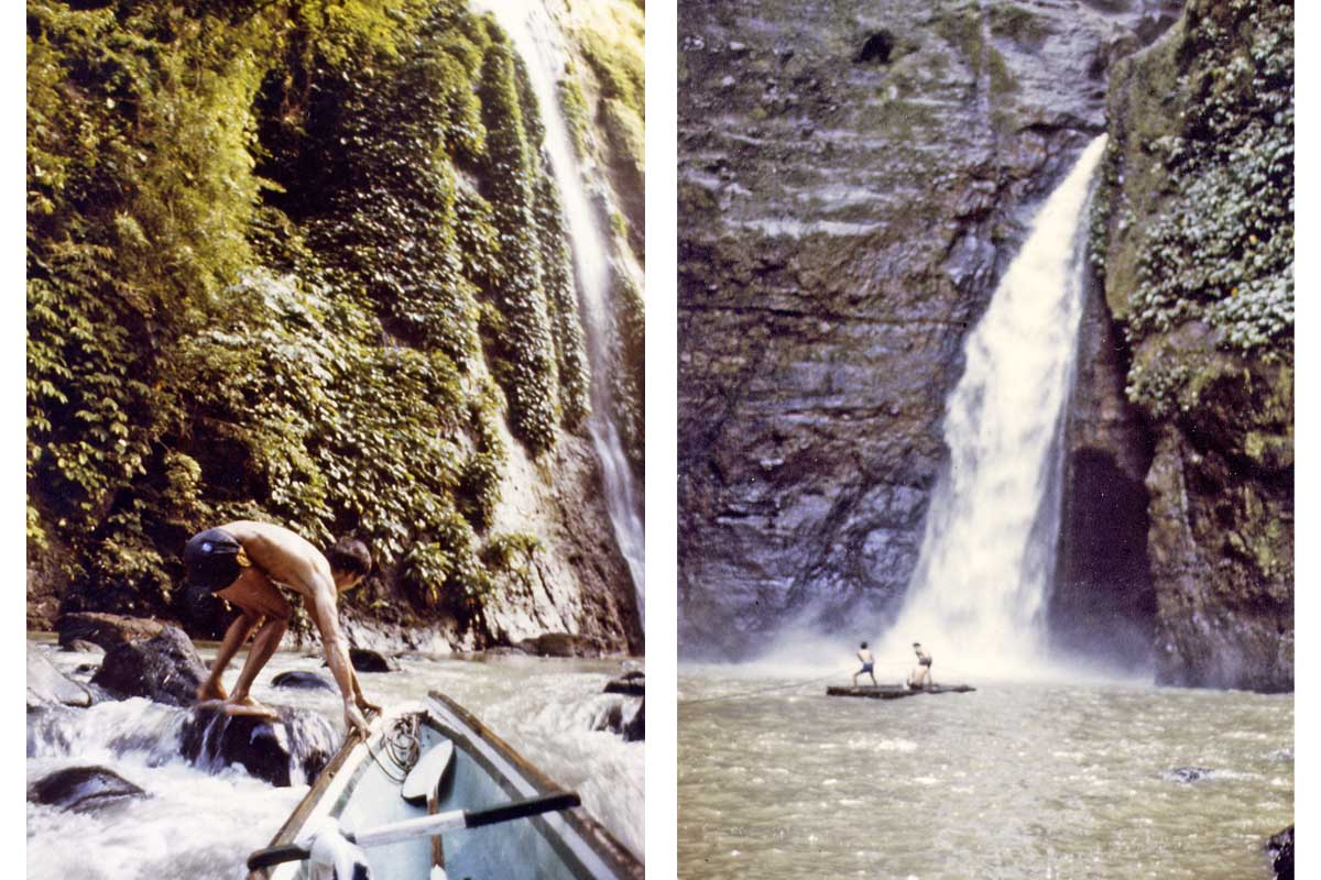 Boat to the waterfall to Pagsanjan