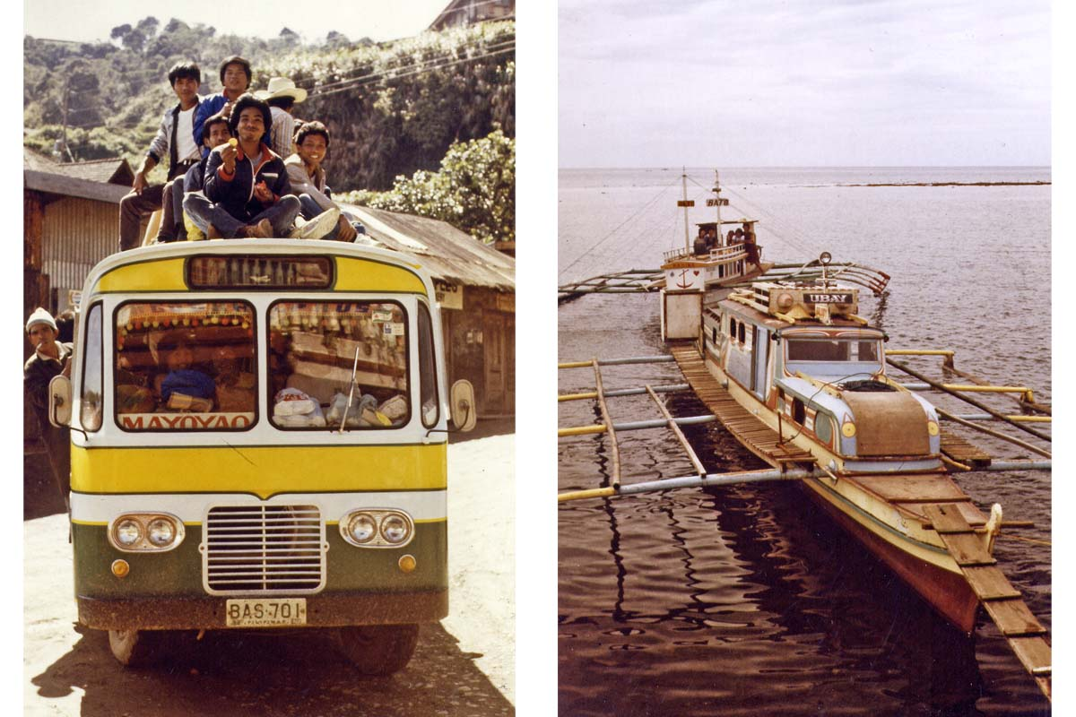Bus and boat Philippines
