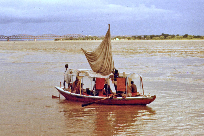 Boat on the Ganges in Varanasi