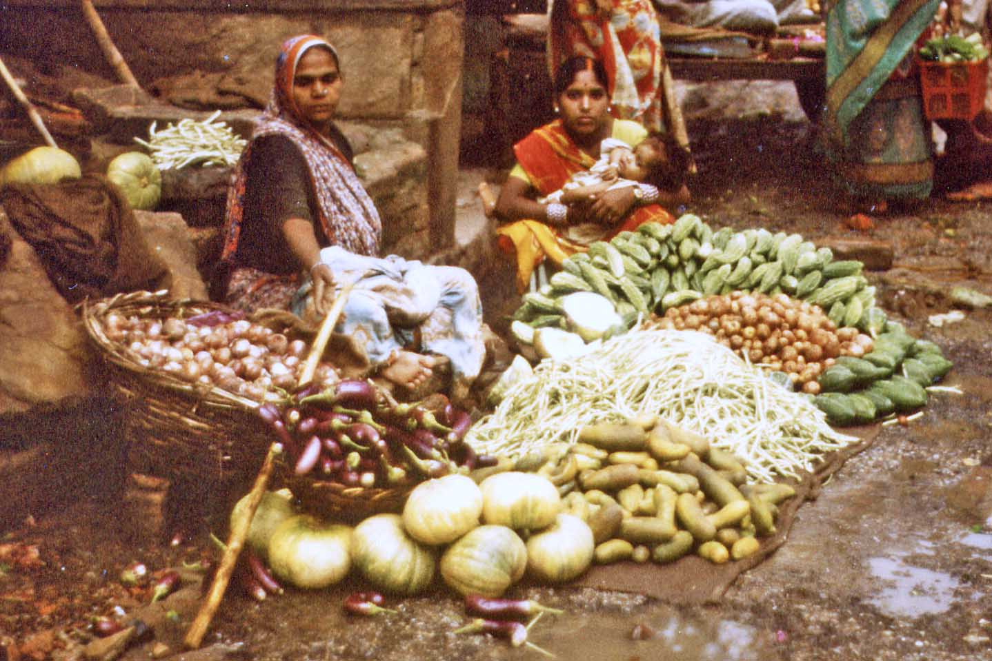 Vegitables on the market in Benares
