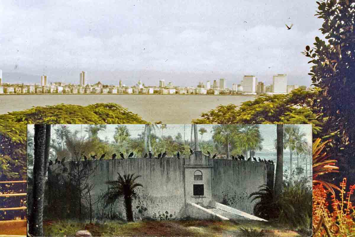 The Towers of Silence in the Indian city of Bombay