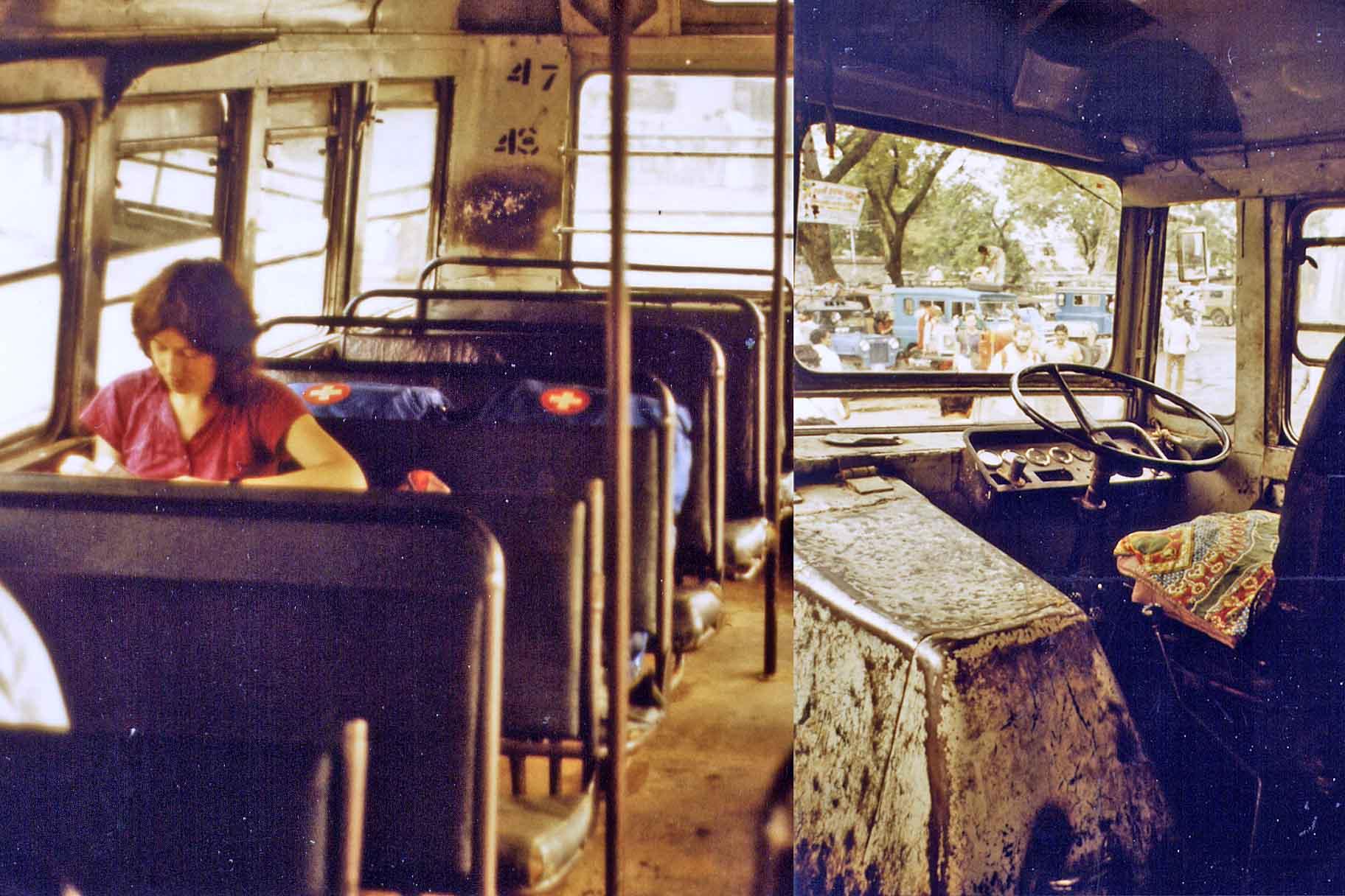 Inside an indian bus 1983