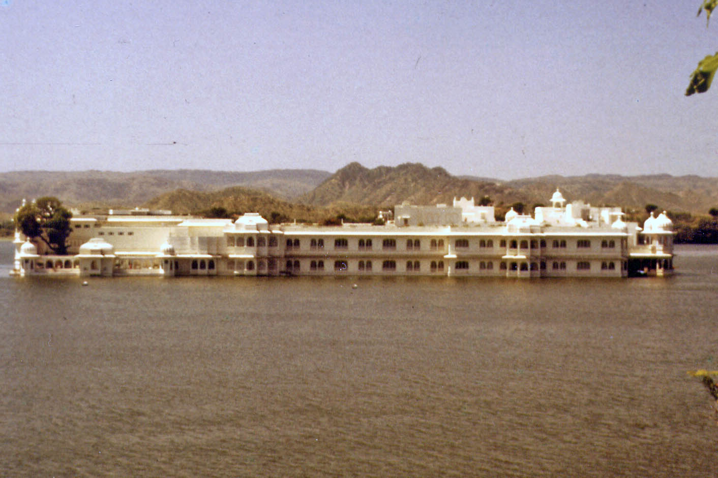 Hotel in the lake of Udaipur
