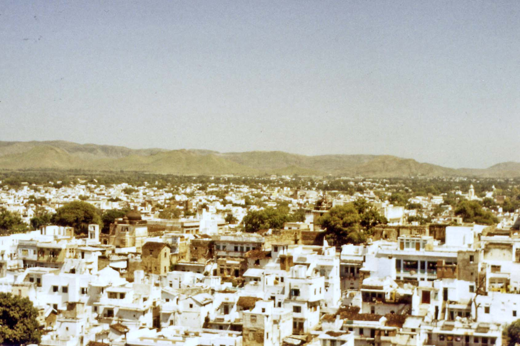 Vieuw from the fort in Udaipur