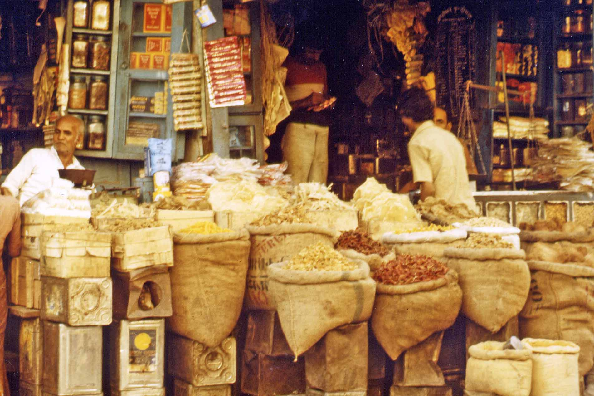 Spices at the market in India