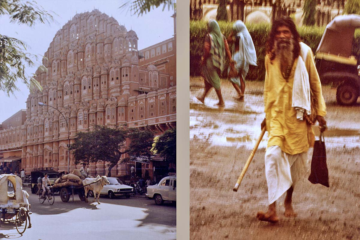 Palace of the wind in Jaipur and Yogi