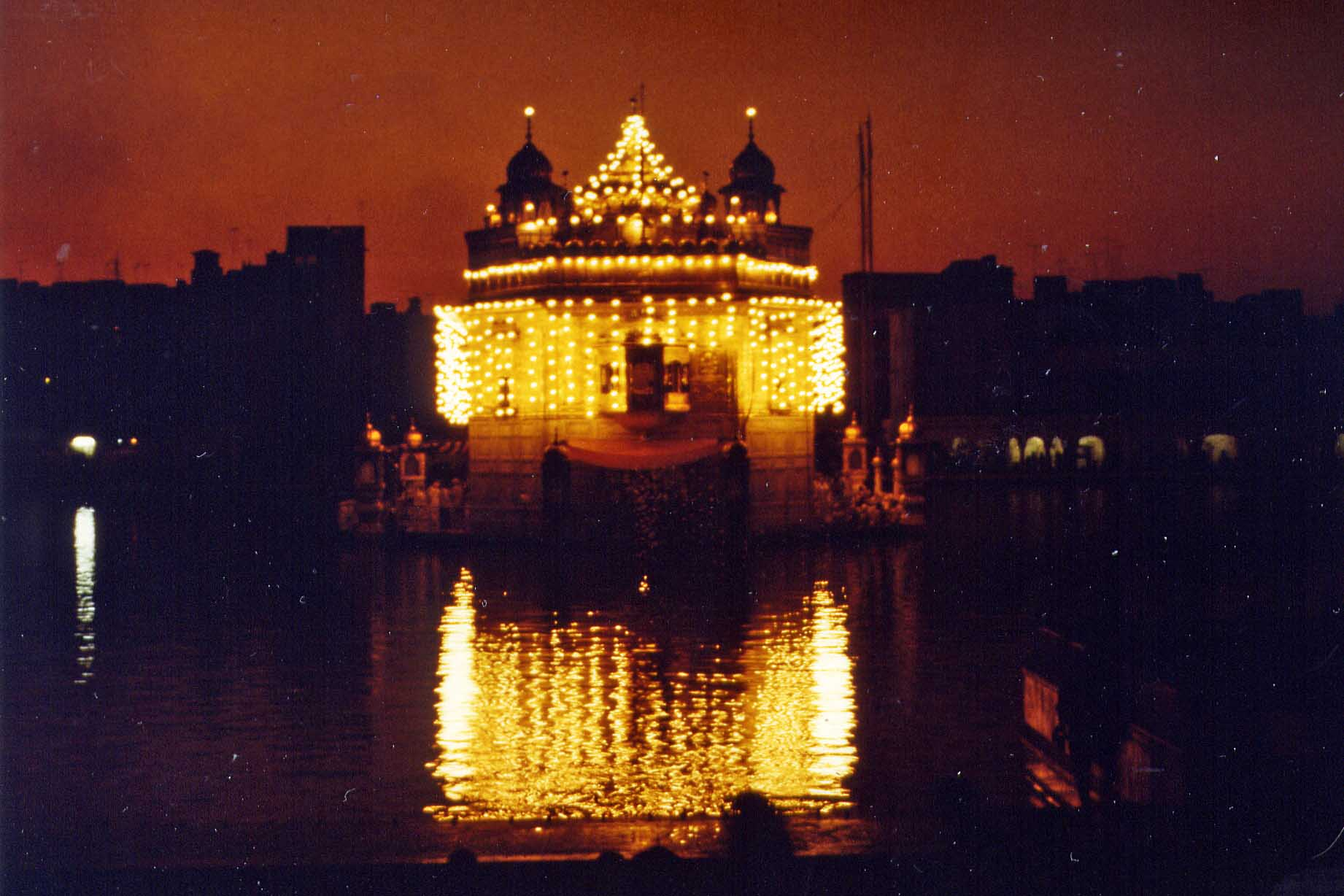 Golden Temple in Amritsar by night