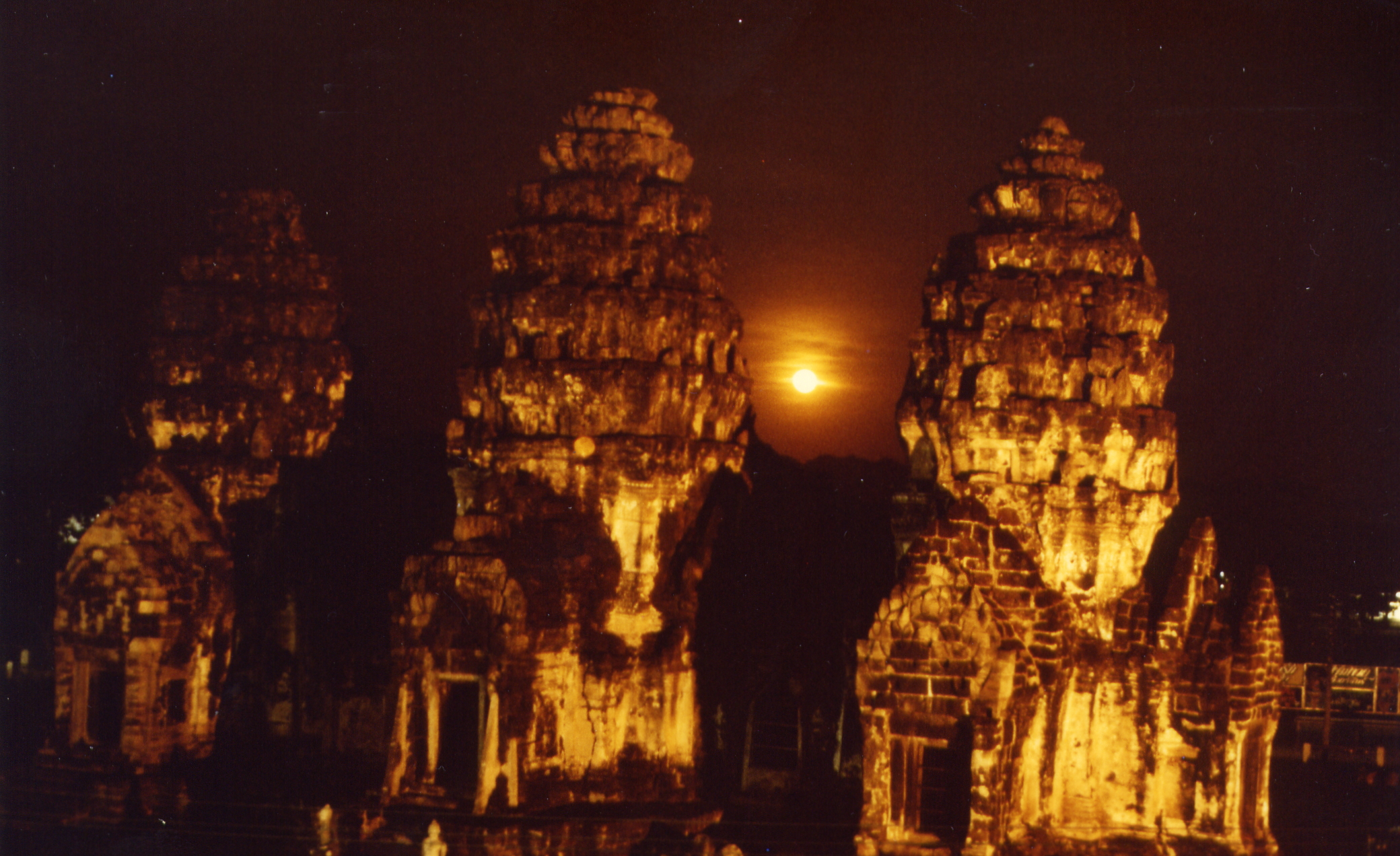 Khmer towers in Lopburi Thailand