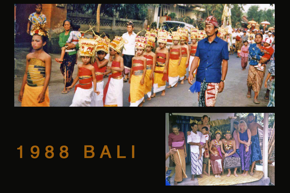 Bali procession and wedding 1988