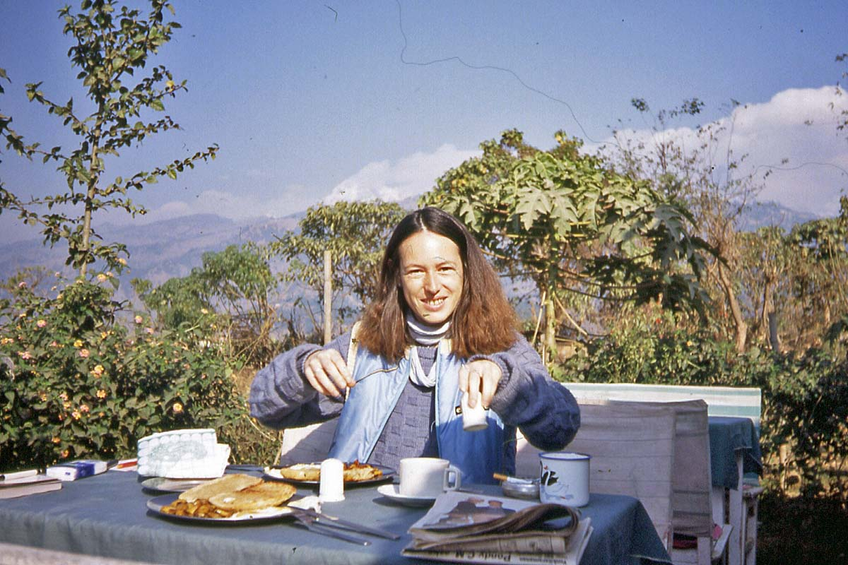breakfast on lake pokhara