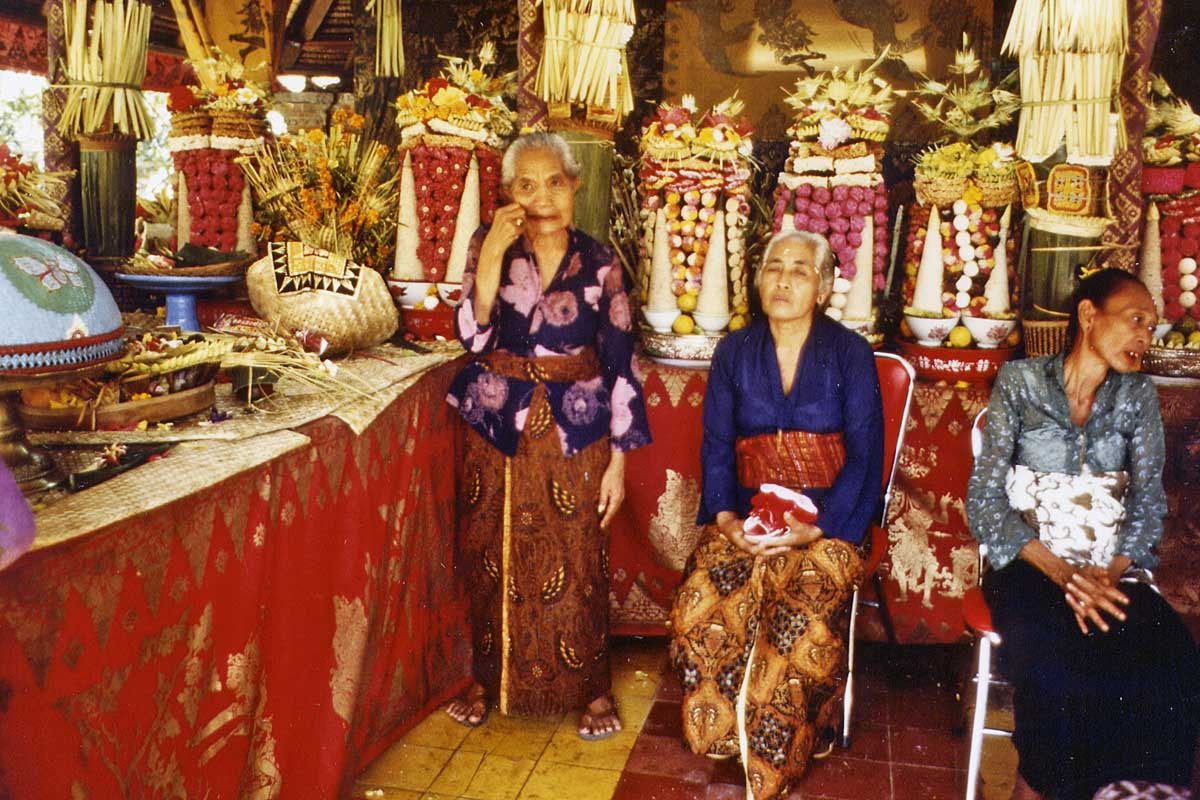 Wedding of balinese prince