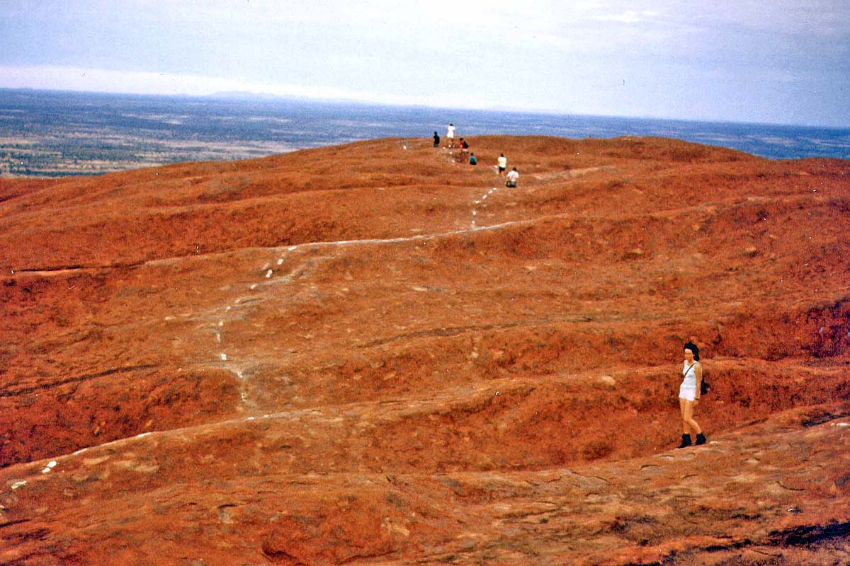 On the Ayers Rock in 1984