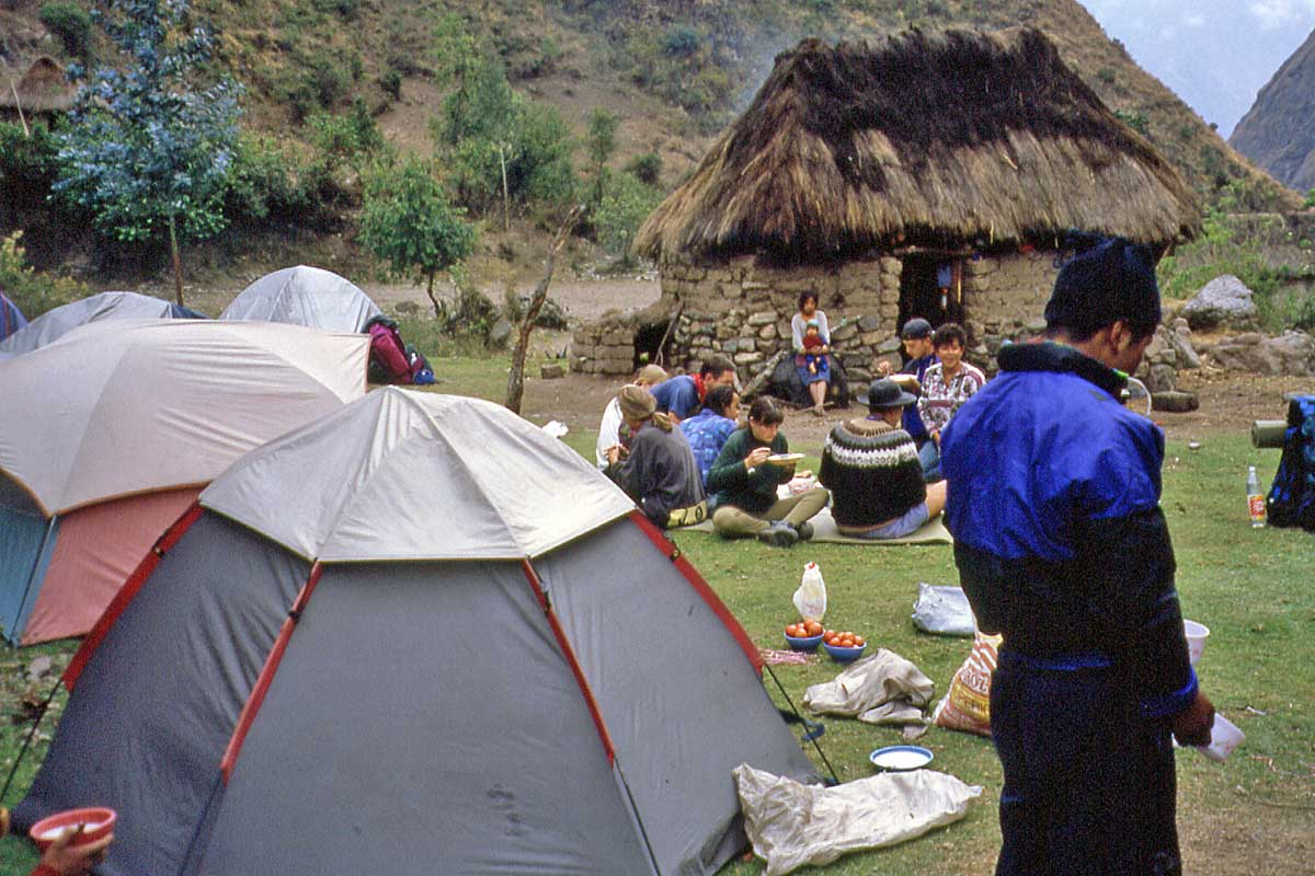 Camp on inka trail