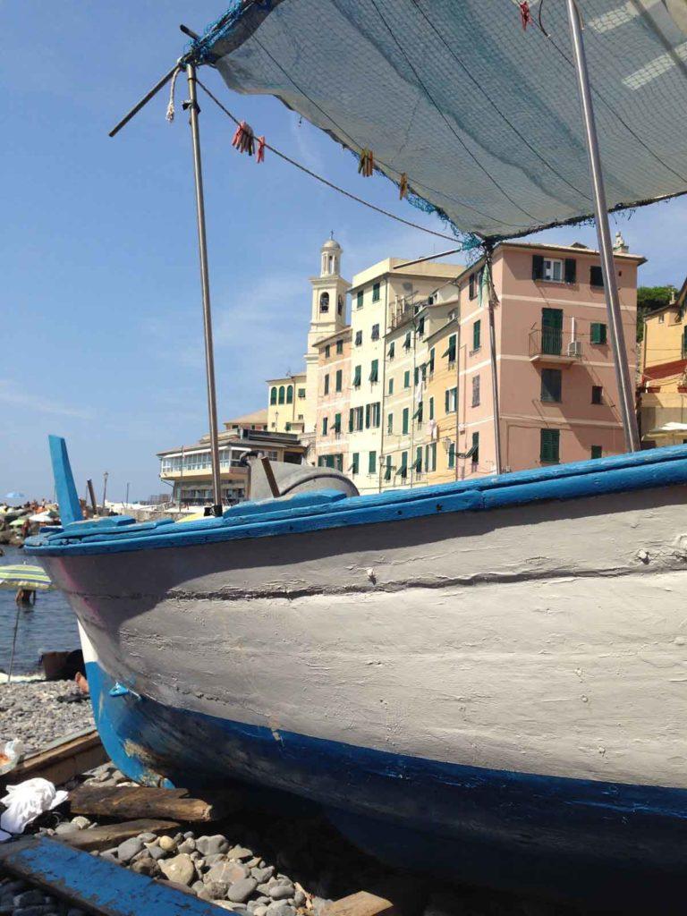 Genua, beach Capo di S. Chiara