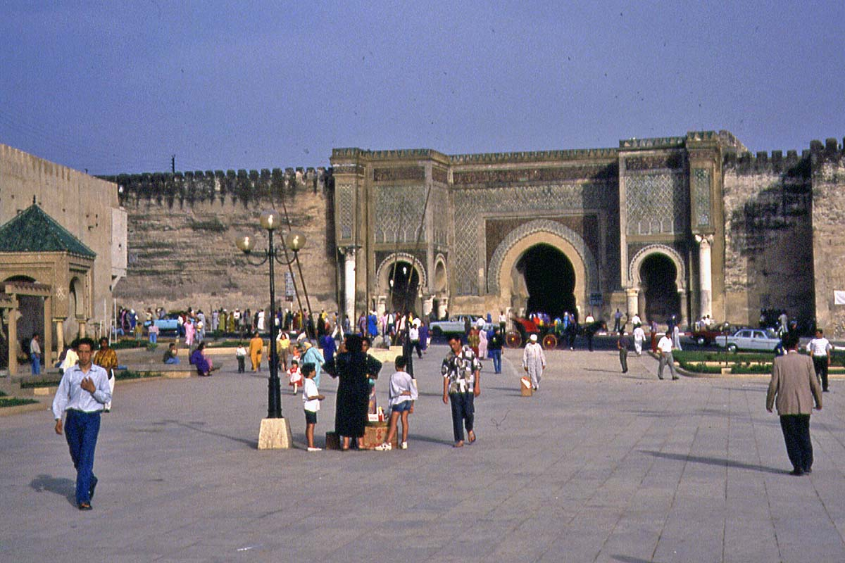 meknes gate and city wall