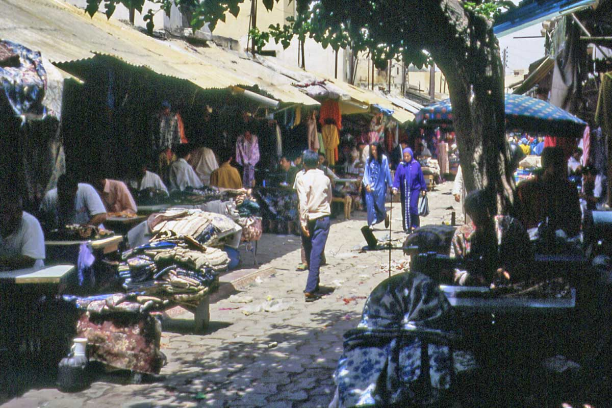 Sewers in a basar in Maroc