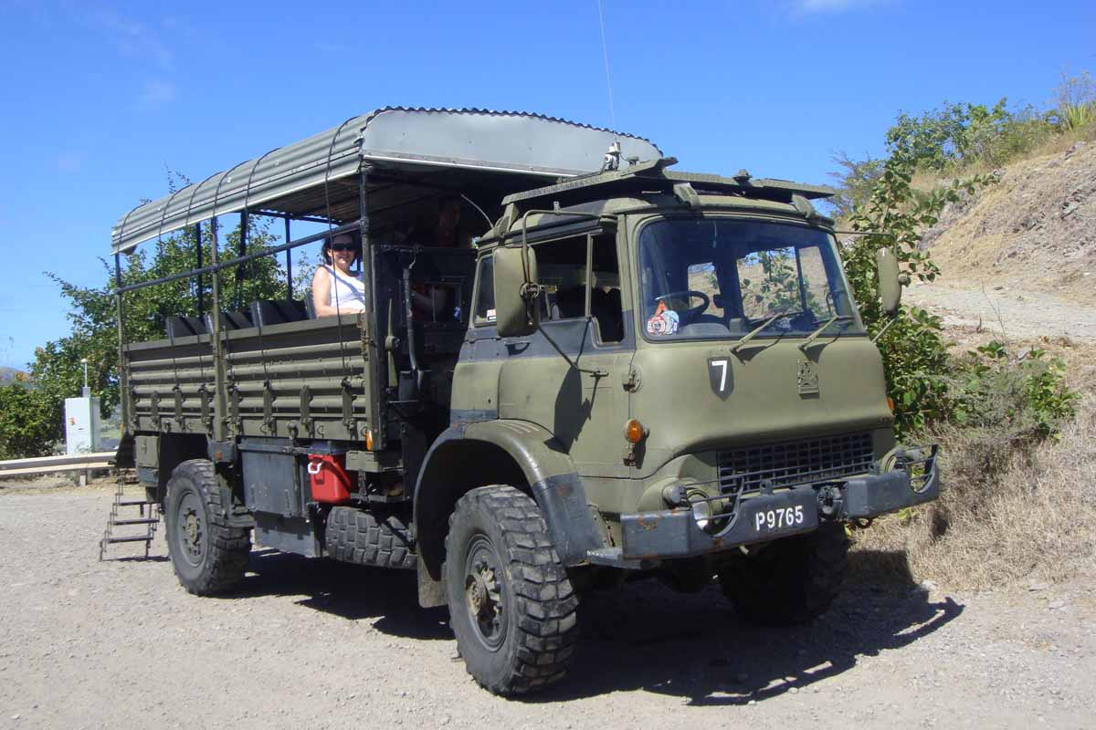 military truck on st Kitts