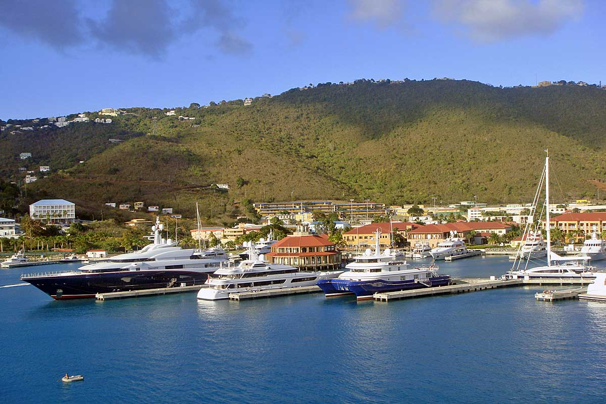 harbour and yachts in st. thomas