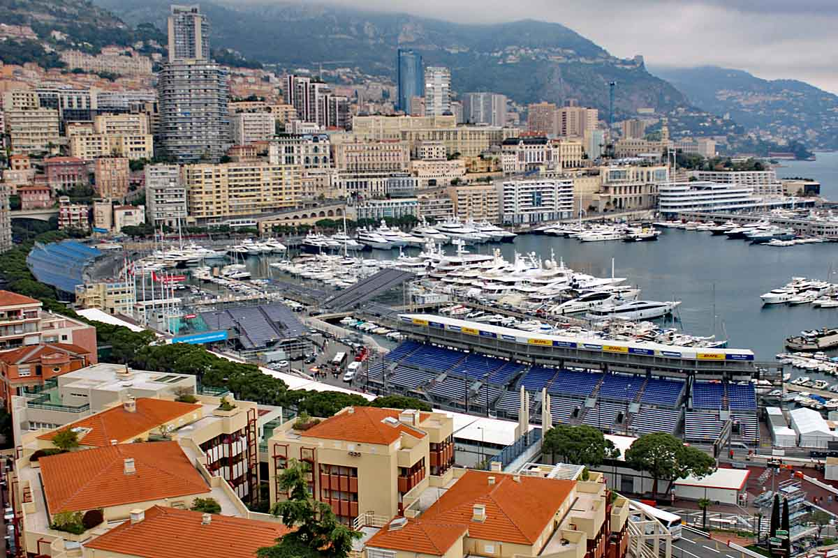 monaco port with yachts