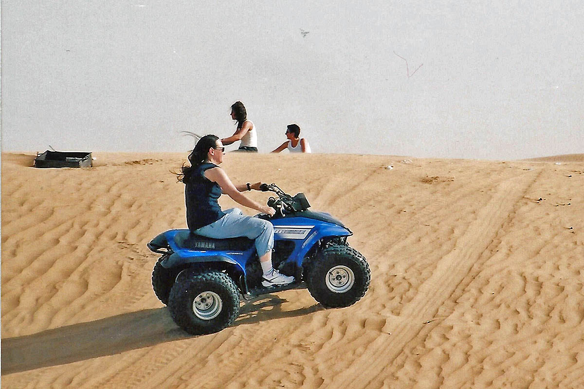 dubai quad in desert