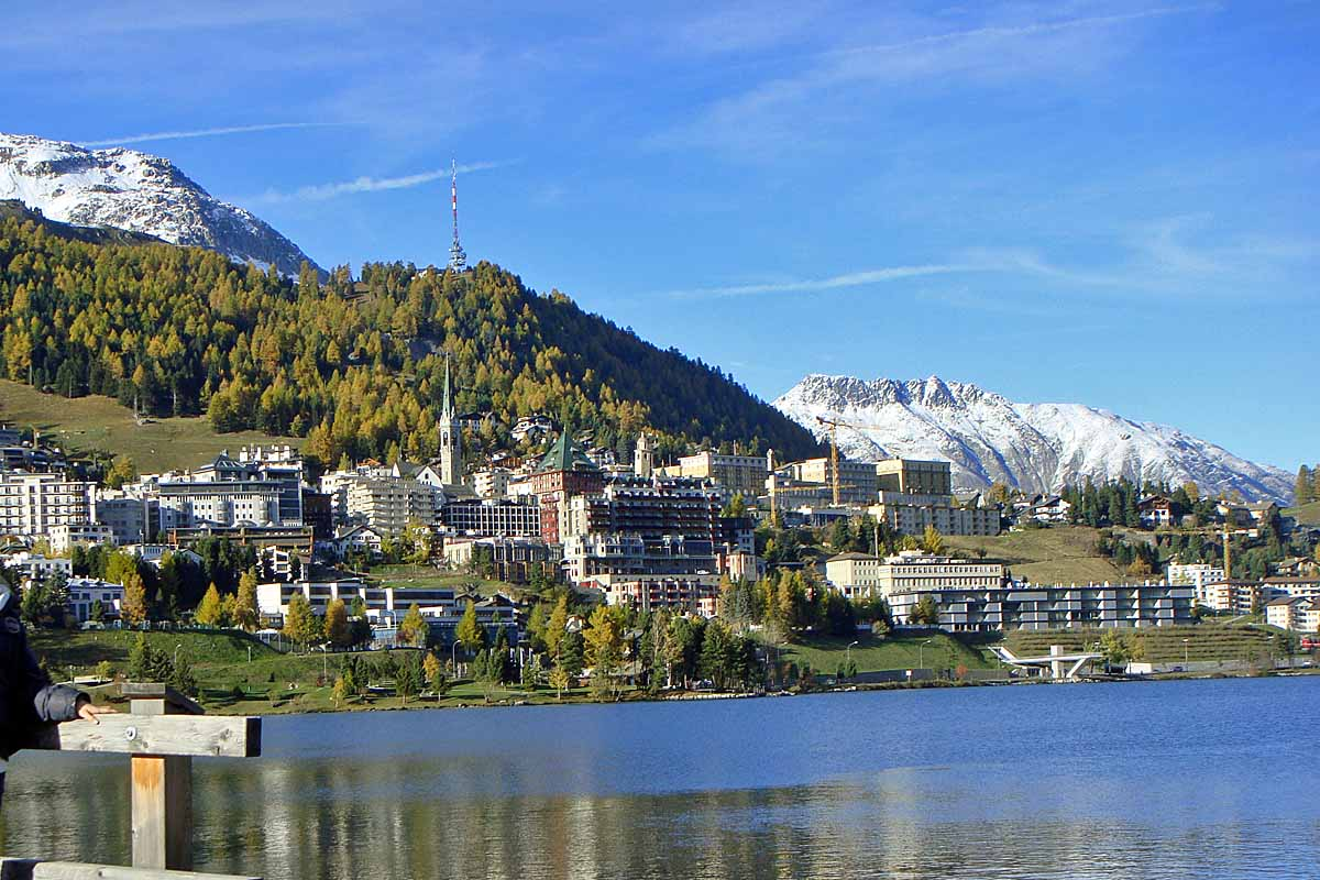 st moritz village and lakd