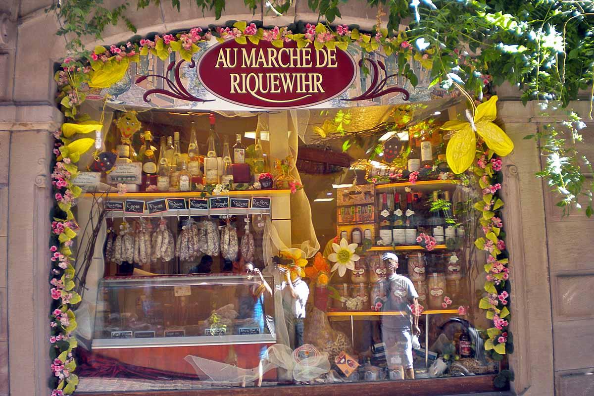 market in riquewihr alsace